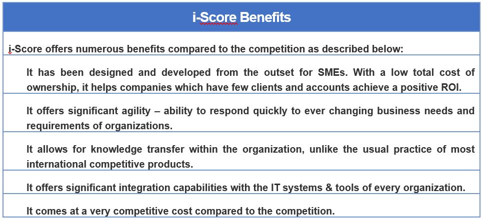 i-Score benefits